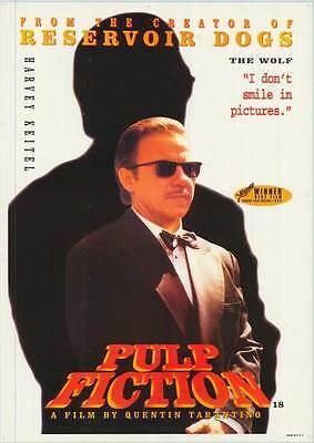 Pulp Fiction Movie Poster 27X40 D John Travolta Samuel L  Jackson Uma Thurman