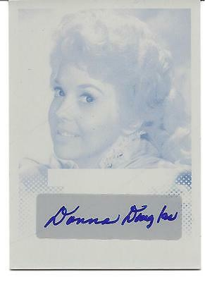 """2013 POP CENTURY. DONNA DOUGLAS """"ELLY MAY"""". AUTOGRAPH. 1/1. CYAN PRINTING PLATE"""