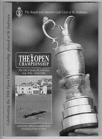 Open Golf Championship Programme