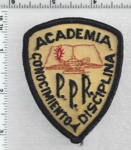 Puerto Rico Academia Conocimiento Disciplina P.P.R. 1st Issue Cap/Hat Patch