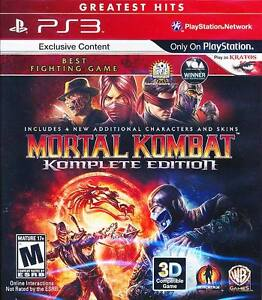MORTAL KOMBAT 9 KOMPLETE COMPLETE EDITION SONY PS3 VIDEO GAME NEW PLAY AS KRATOS