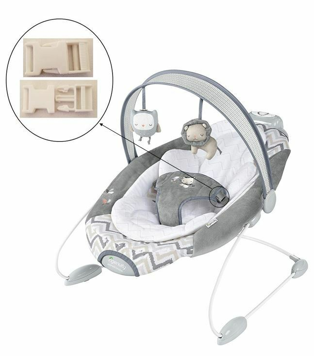 1 White Harness Seat Clip for Ingenuity Smart Bounce Bouncer