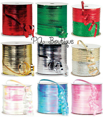 U PICK 150-250yds Spools Metallic Holographic or Iridescent Curling Ribbon 3/16