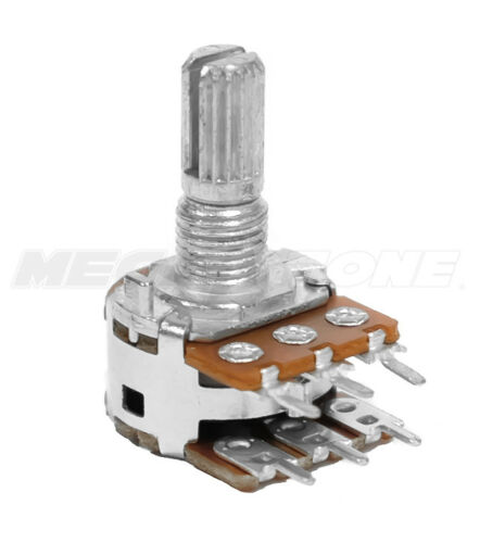 B500K Ohm Linear Dual Gang Potentiometer PCB-Mount 16mm Alpha Brand. USA Seller!