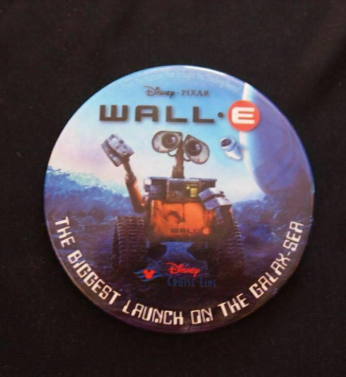 Disney Pixar WALL-E Movie Cruise Line Premier Galax-Sea Button Pin Wall.E
