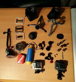 2 X GOPRO WITH ACCESSORIES! NEED QUICK SALE