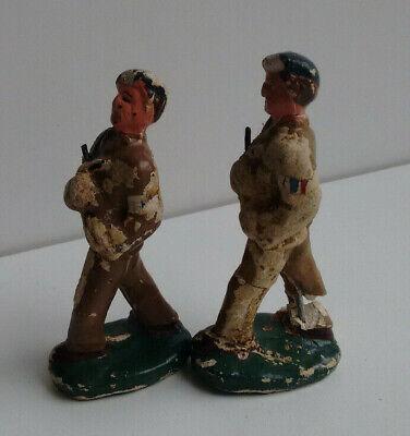Lot 2 anciens soldats plâtre durso  vintage belge antique ?