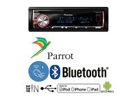 Pioneer Stereo Car Head Unit DEH BT X5600 Bluetooth USB and Music Streaming Smartphone Compatible