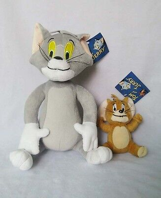 New A pair of plush toys Tom and Jerry Plush Doll Soft Cute Stuffed Cartoon Toy