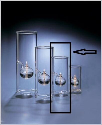 """Classic Wolfard 6"""" Oil Lamp NEW & Complete - Hand-Blown from Borosilicate Glass"""