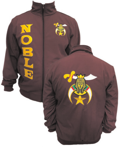 Shriners Microfiber Jacket Embroidered Front & Back (Maroon) - (1992SHRJKMN)