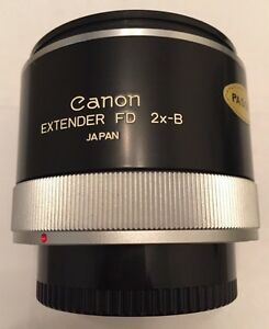 Canon extender FD 2X-B mint with warranty