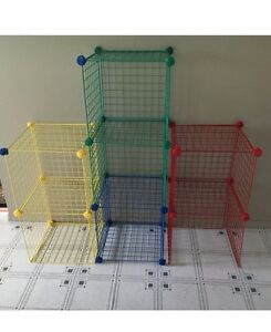 Colourful Mesh Storage Cubes