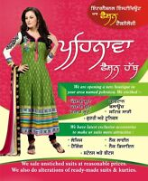 STITCHING AND ALTERATIONS OF PUNJABI SUITS