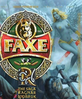 Faxe beer can. Exclusive series The Saga of Ragnar Lodbrok #5. Bottom open LE.