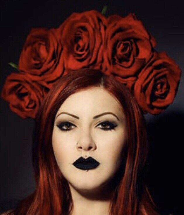 Large Roses Floral Headband Fascinator