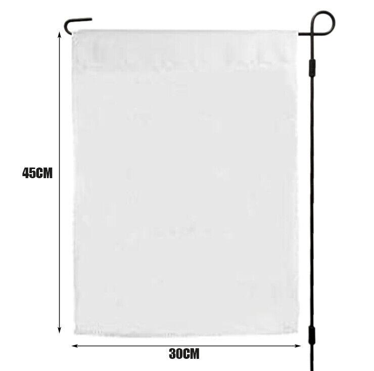 10pcs 30x45cm sublimation blank polyester lawn garden