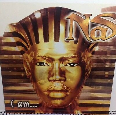 "NAS ""I am"" PROMOTIONAL 7x7 FLAT RARE ORIGINAL 1999 DMX Method Man Nicki Minaj"