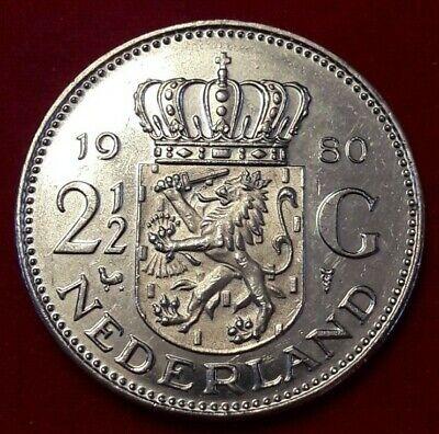 Pays-Bas, Juliana, 2-1/2 Gulden, 1980, TTB, Nickel, KM:191