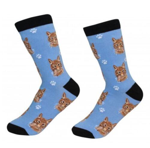 Orange Tabby Cat Socks Unisex Dog Cotton/Poly One size fits most