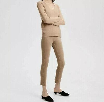 Theory Womens Pants Navalane Velvet High Waist Ankle Skinny Khaki Casual Size 2