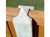 8ft slotted concrete fence post, brand new,