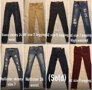 Jeans (AE, Hollister, Guess)