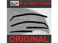 MERCEDES C Class W205 4doors Saloon 2015-onwards 4pc Wind Deflectors HEKO Tinted