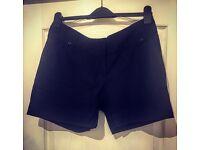 Ladies Black Cotton Shorts - Size 12