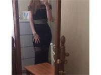 Godiva Bardot fishtail prom/ occasional dress