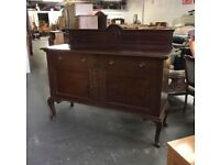** LOVELY OLD SIDEBOARD WITH QUEEN ANNE LEGS - CAN DELIVER **