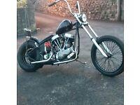 Harley Davidson Panhead FL 1954