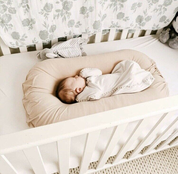 Snuggle Me Organic Slip Cover Baby Lounger Nude Beige Natural
