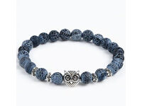 Christmas Gift - Beautiful owl Charm Natural Stone Bracelet