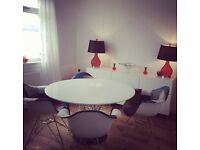 Eames patchwork dining table and chairs