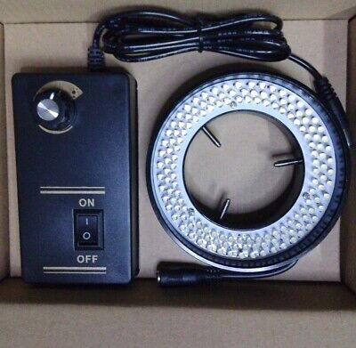Stereo Microscope 144 Led Ring Light Source Illuminator Adjustable