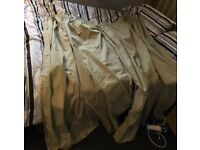 Dunelm mill olive green curtains (pencil pleat)