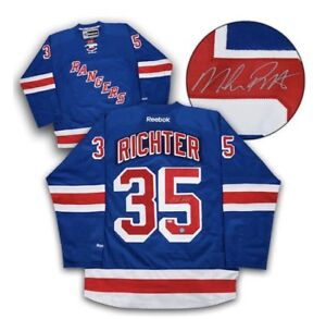 Mike Richter Signed New York Rangers Jersey