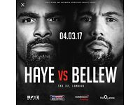 David Haye V Tony Bellew Price Level 1A £331 per ticket face value