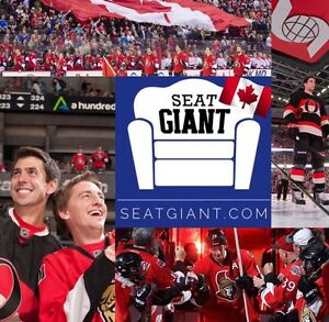 OTTAWA SENATORS VS MAPLE LEAFS TICKETS!!!