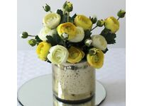7 14.5cm gold vase cylinders for flowers or candles