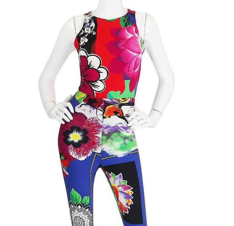 Floral Versace Jeans Couture Bodysuit Circa 1990 Vintage Size M