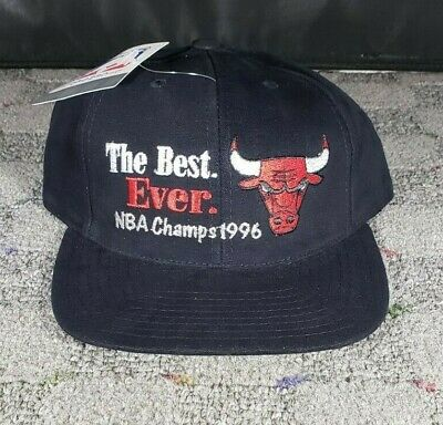 NWT - Vintage Chicago Bulls 1996 NBA Champions The Best Ever Snapback Hat