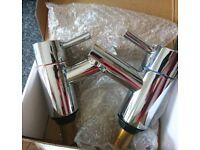 Brand new boxed set of Bath Pillar taps