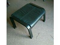 Black IKEA footstool