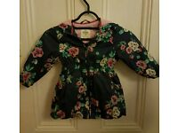 Girls Floral Coat (1.5-2 years)