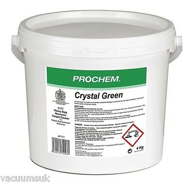 Prochem S777-04 Crystal Green 4kg Premium Carpet Cleaning Supplies