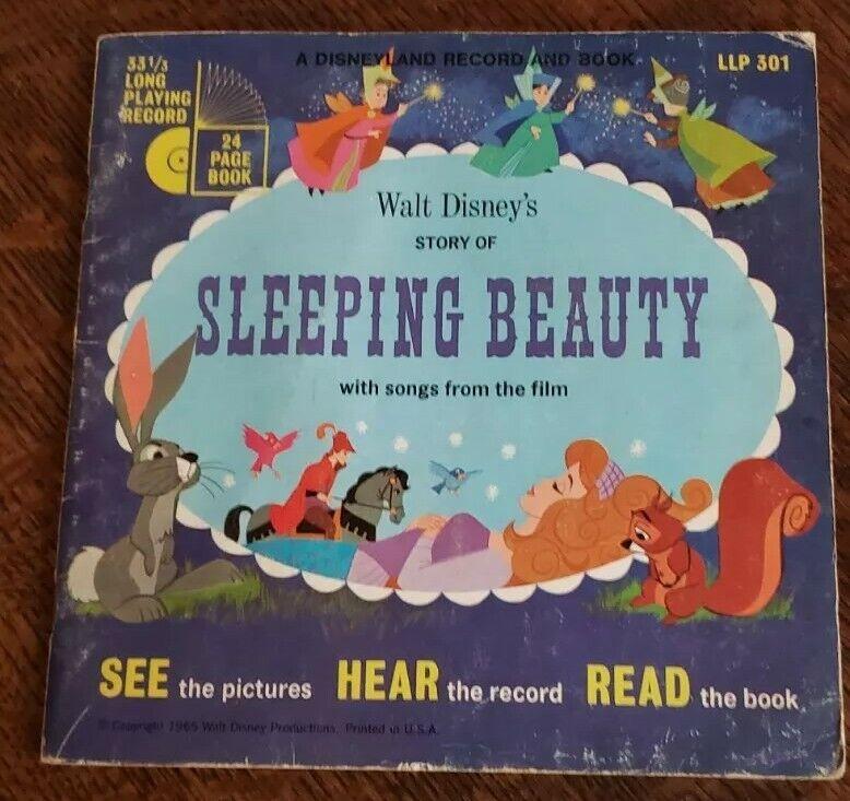"1957  DISNEY ""SLEEPING BEAUTY"" Book w/ record. LLP # 301 331/2 RPM"