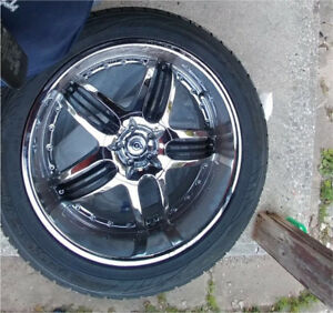 22 inch Toyo Tires with Chrome rims