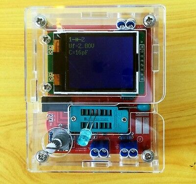 Assembled Tft Gm328 Transistor Tester Diode Lcr Esr Meter Pwm Square Wave Case